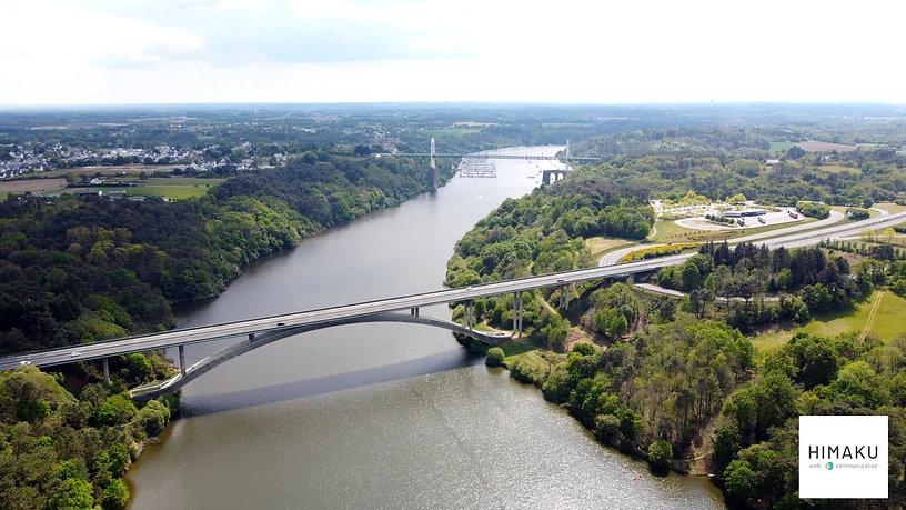 Reportage en drone par HIMAKU avec ici La Vilaine et les ponts de La Roche-Bernard / Nivillac