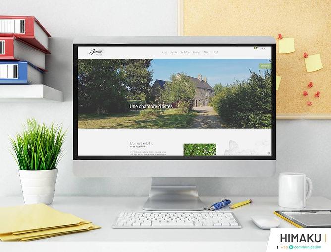 HIMAKU, agence web à Vannes, vous présente le nouveaut site internet de cette chambre d'hôtes dans le Morbihan