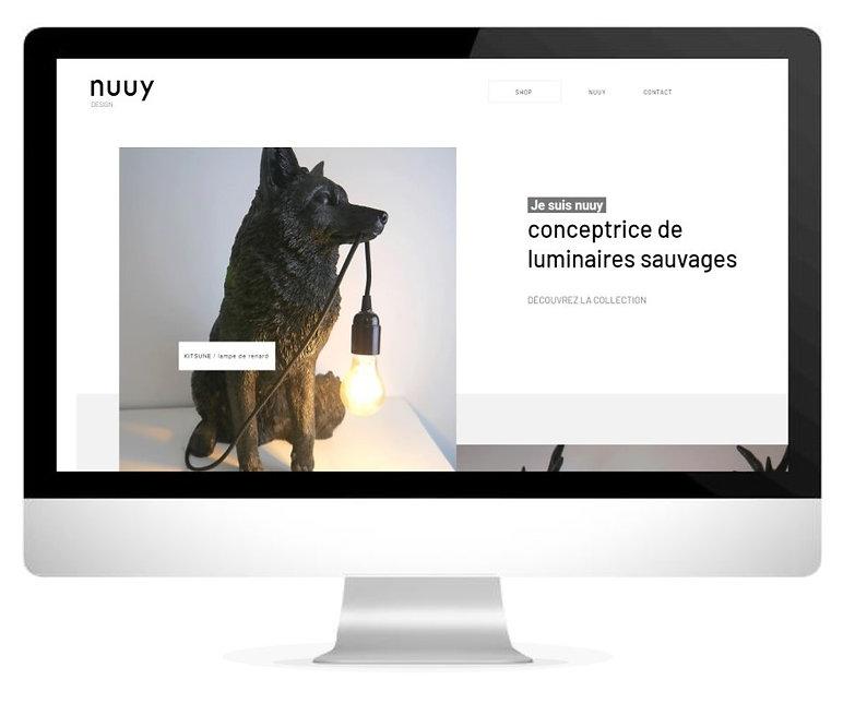 Un site internet pour Nuuy Design, luminaires design d'animaux