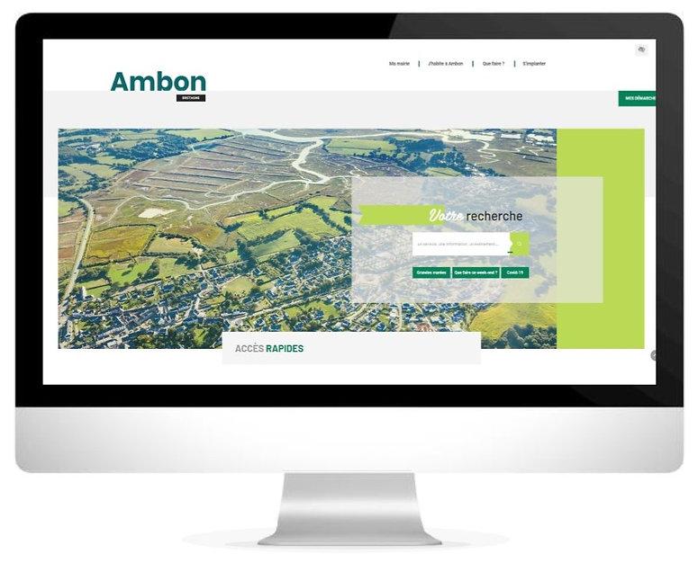 HIMAKU, agence web à Vannes, et le nouveau site internet de la commune d'Ambon dans le Morbihan