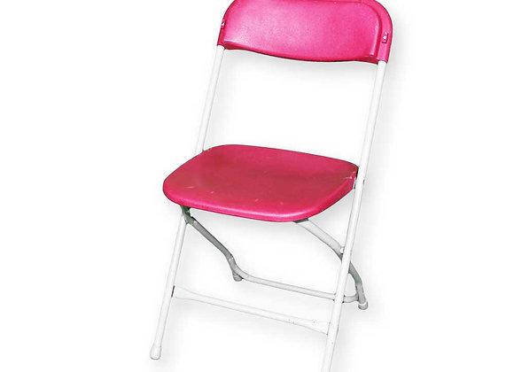 Chaise pliante bordeaux