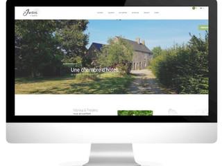 Un site internet pour la chambre d'hôtes, Les Jardins de Naveos