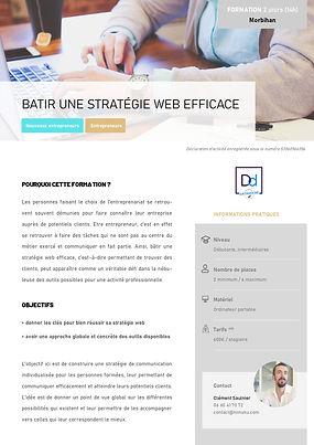 FORMATION - Bâtir une stratégie web effi