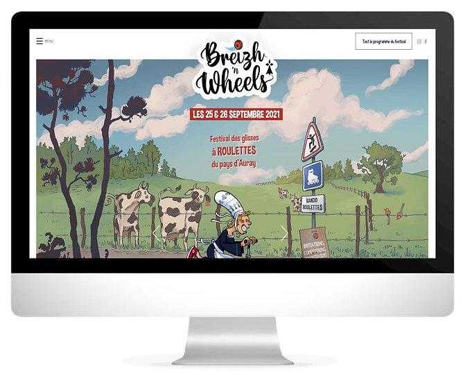 Le site internet de Breizh 'n Wheels par HIMAKU, agence web à Vannes