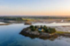 Pointe du Bil - photographies en drone dans le Golfe du Morbihan par HIMAKU, agence web à Vannes.