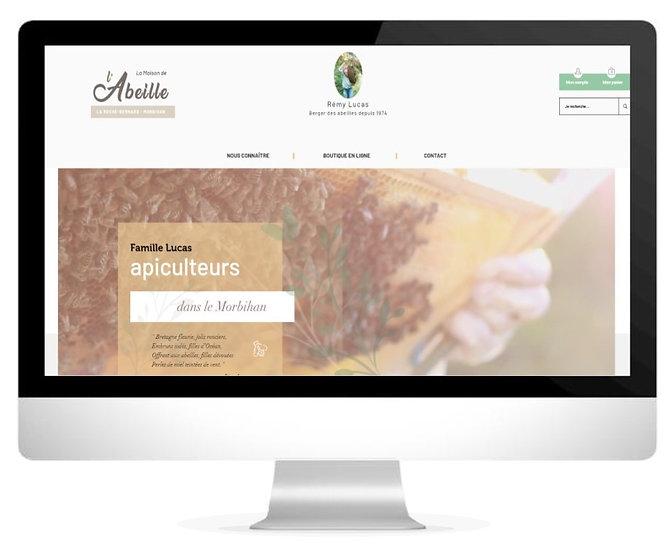 Le nouveau site internet de La Maison de l'Abeille par l'agence web et communication HIMAKU