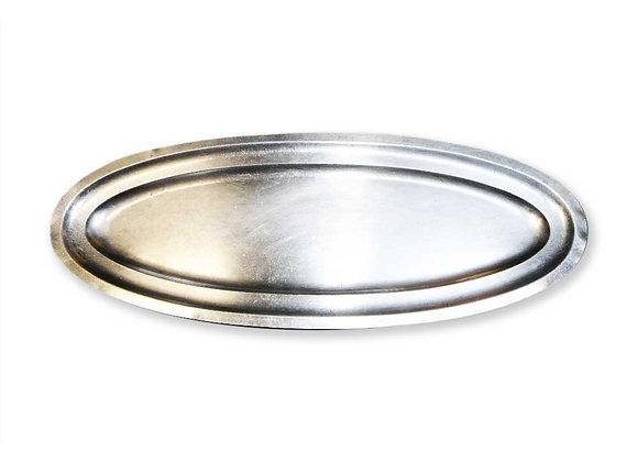 Plat inox ovale moyen