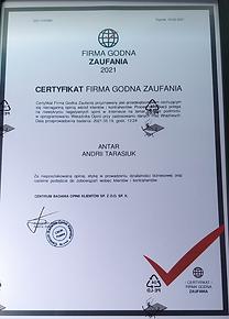 certyfikat zaufania