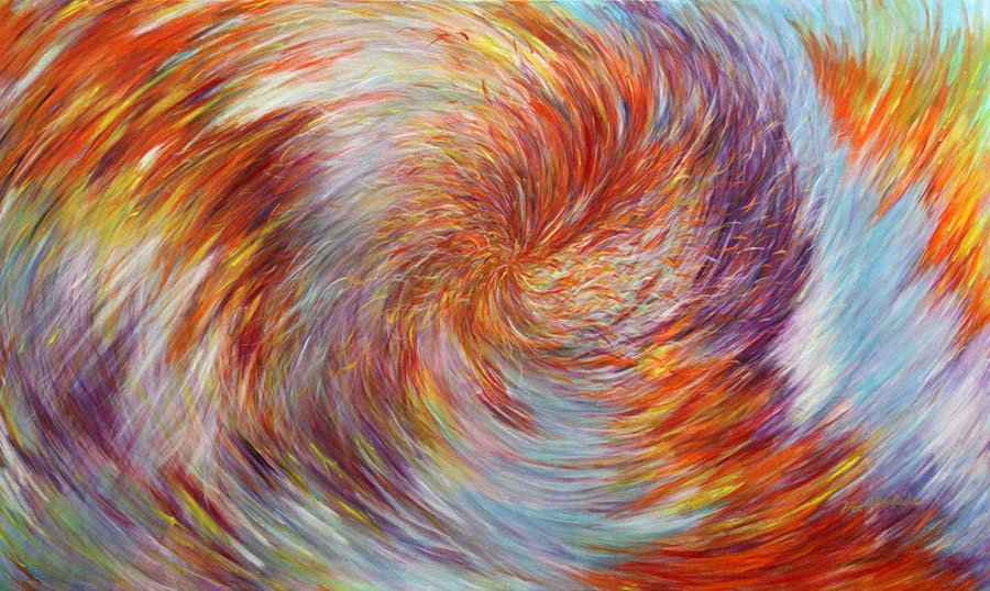 Singapore artist Pat Roche, Wings Unfold, Oil