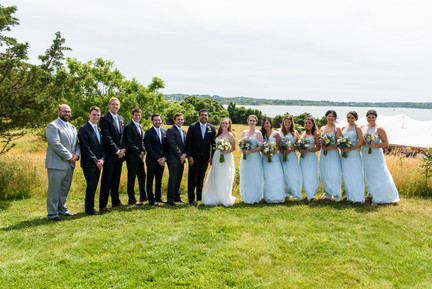 A wedding party in Chilmark photo by David Welch Photography