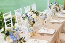 Flowers at a Dr. Daniel Fisher House and Garden wedding on Martha's Vineyard photo by David Welch Photography