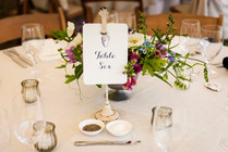 A wedding tablescape in Chilmark photo by David Welch Photography