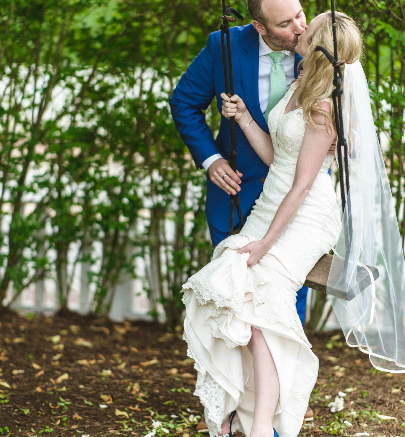 Romance at the swing  at Atria Restaurant and Brick Cellar Bar in Edgartown photo by David Welch Photography