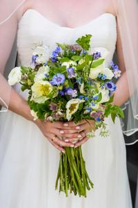 A bridal bouquet by Tea Lane Farm photo by David Welch Photography