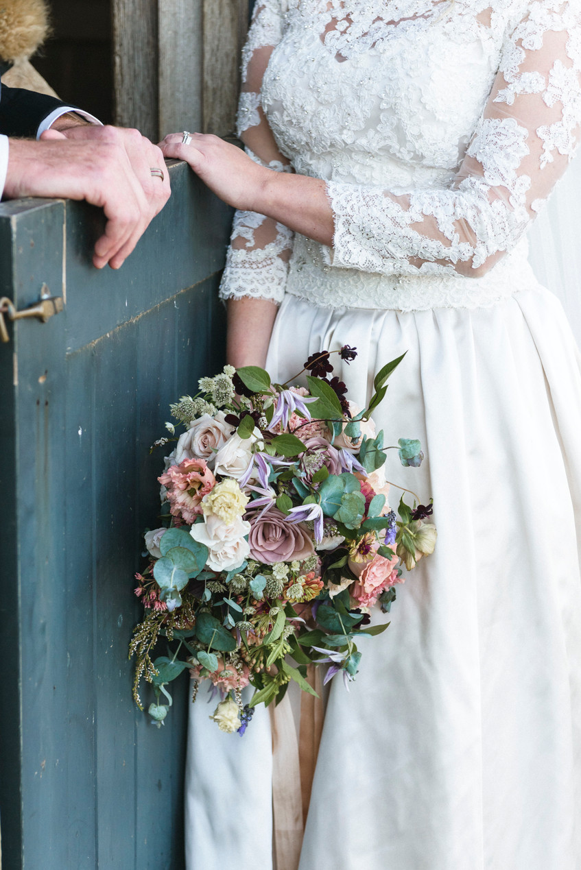 A wedding bridal bouquet by Morrice Florist on Martha's Vineyard photo by David Welch Photography
