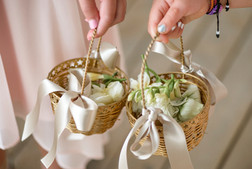 Flower girl baskets photo by David Welch Photography