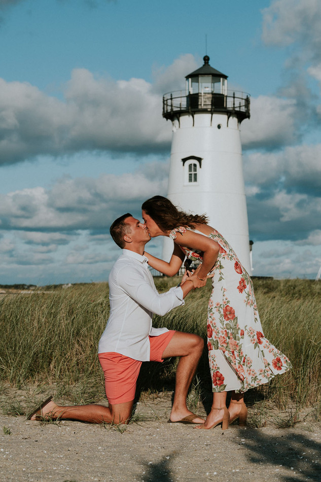 Engagement photos on Martha's Vineyard photo by David Welch Photography