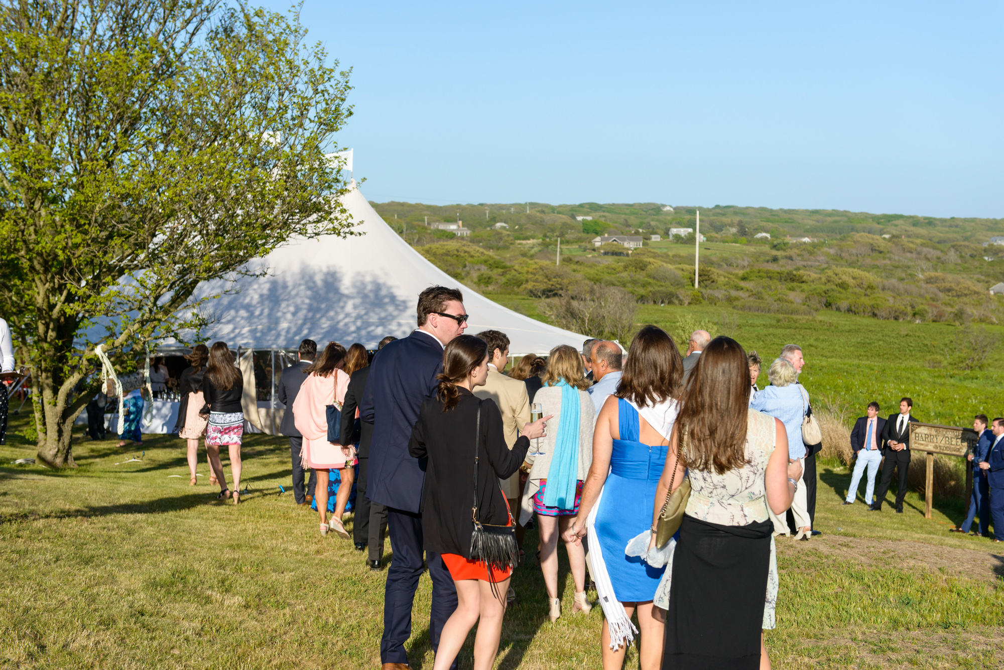 A wedding reception and tent at the Vanderhoop Homestead photo by David Welch Photography