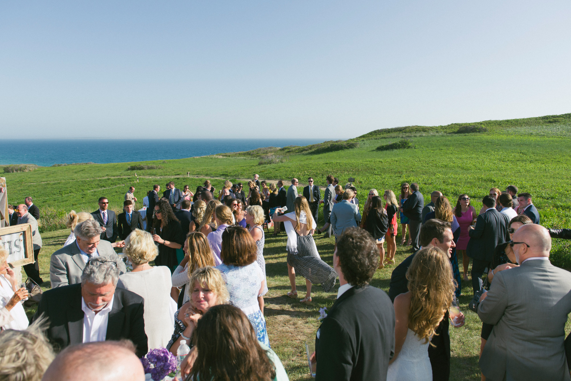 A view of the field and ocean from the Vanderhoop Homestead photo by David Welch Photography