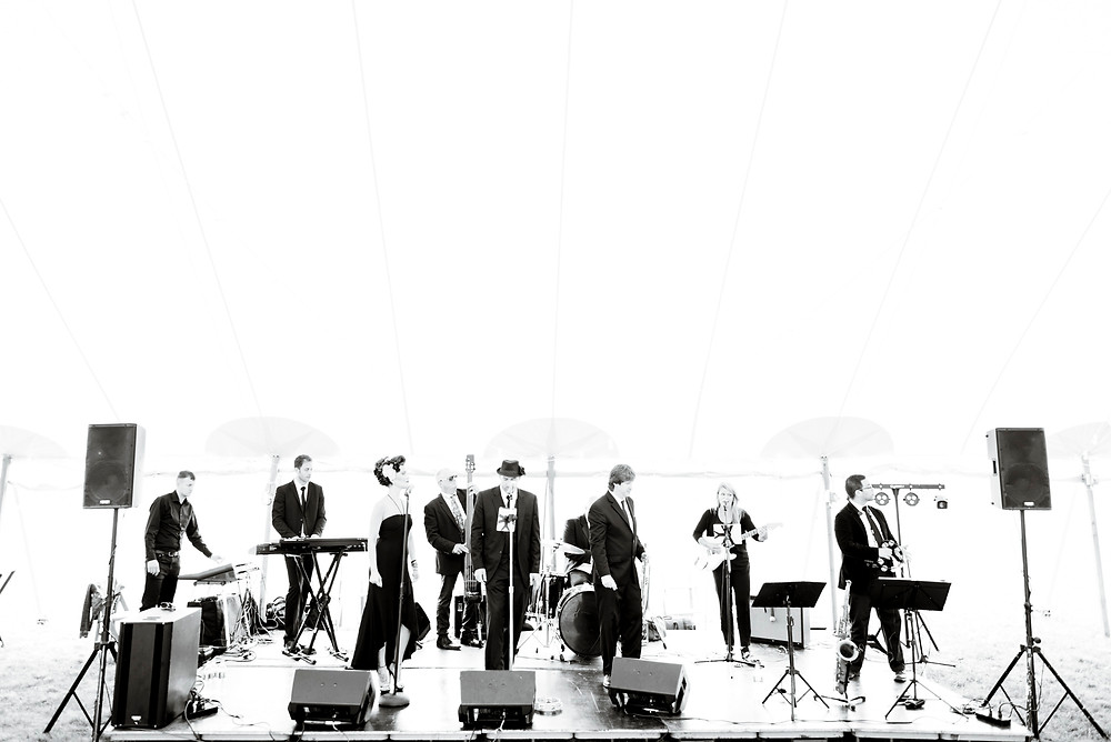 The Sultans play at a wedding in Chilmark on Martha's Vineyard photo by David Welch Photography