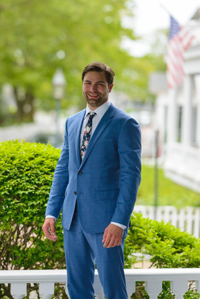 A groom getting ready for his wedding ceremony in Edgartown photo by David Welch Photography