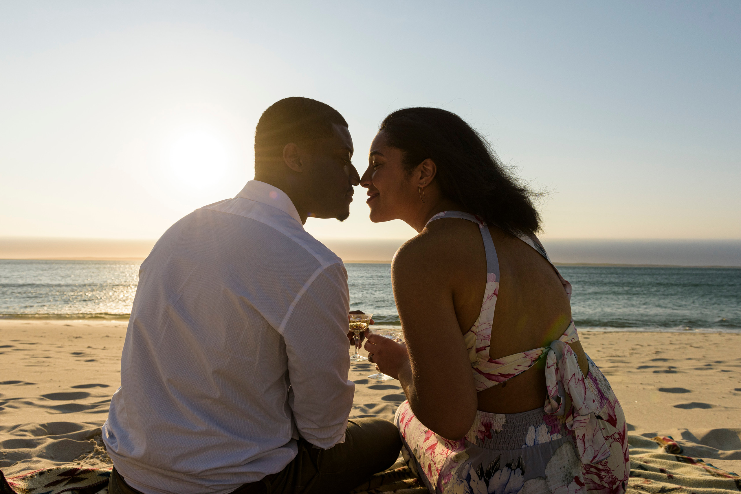 Martha's Vineyard engagement session photos by David Welch Photography