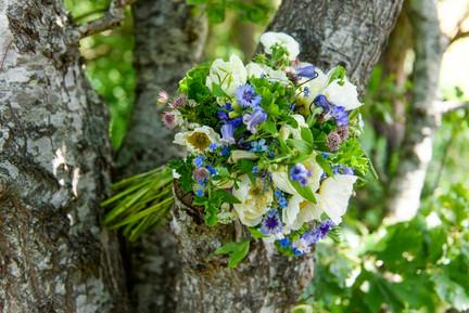 Bridal bouquet by Tea Lane Farm photo by David Welch Photography
