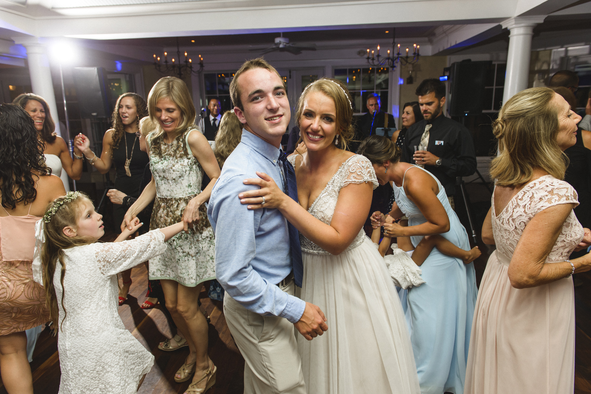 A wedding reception at the Harbor View Hotel on Martha's Vineyard photo by David Welch Photography
