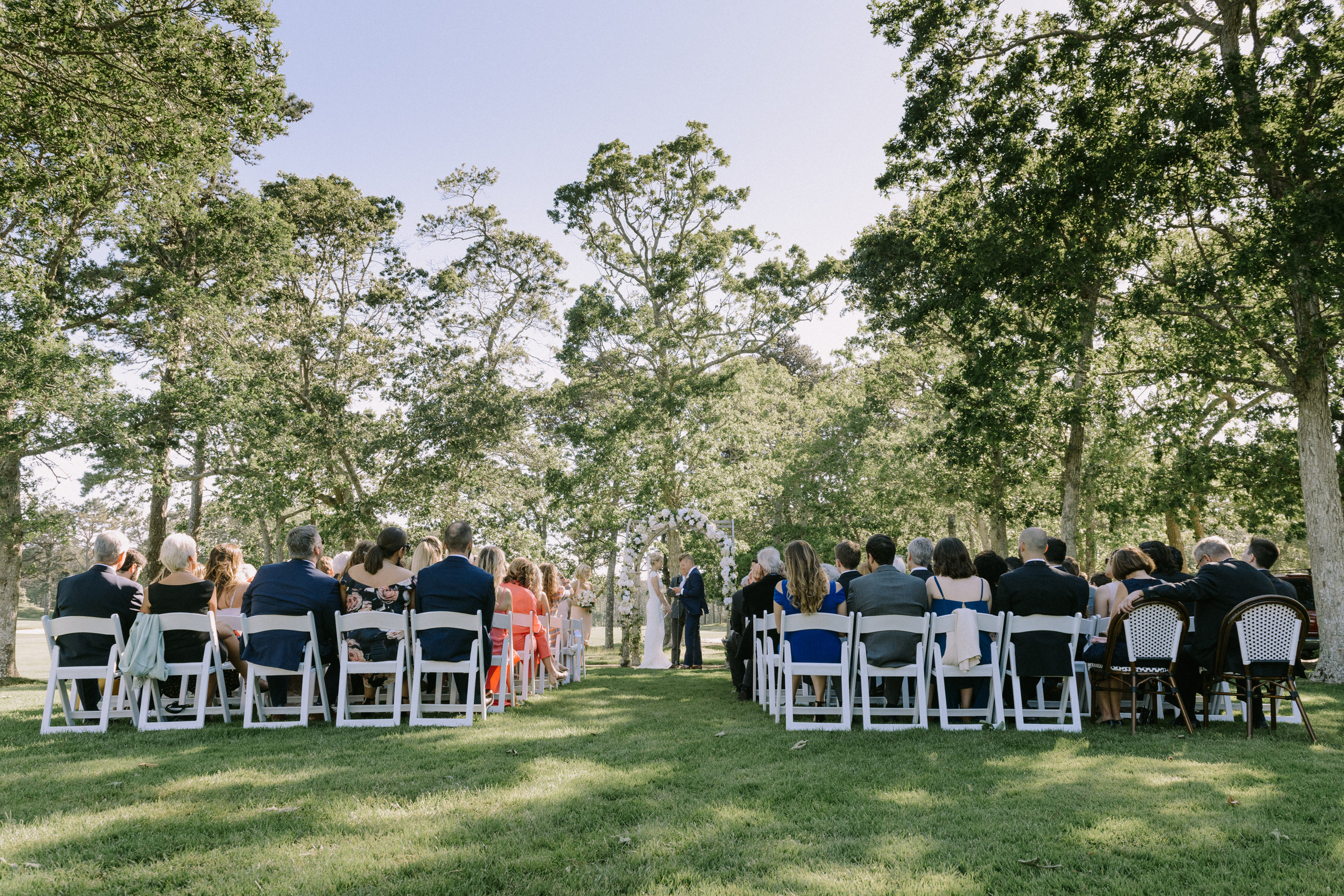 Bride and groom at a Martha's Vineyard wedding photography by David Welch Photography