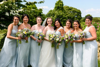 A bride and her bridesmaids photo by David Welch Photography