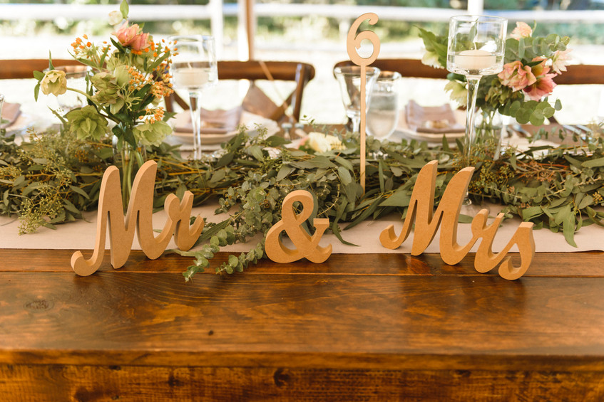 A wedding tablescape at Island Alpaca Company on Martha's Vineyard photo by David Welch Photography