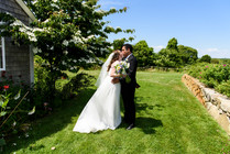 A bride and groom at their first look photo by David Welch Photography