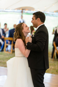a bride and groom have their first dance photo by David Welch Photography