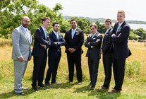 A groom and his groomsmen photo by David Welch Photography