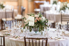 Wedding reception detail photo at the Martha's Vineyard Agricultural Society Hall photo by David Welch Photography