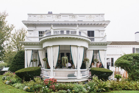 The Dr. Daniel Fisher House and Garden used for a wedding on Martha's Vineyard photo by David Welch Photography