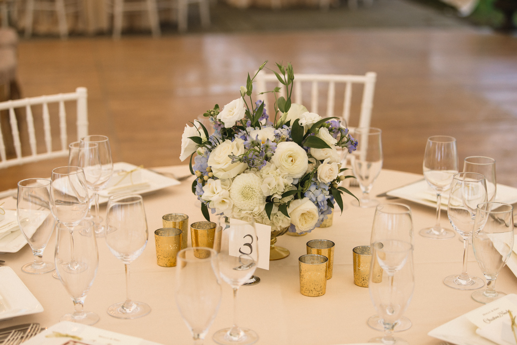A wedding tablescape at the Dr. Daniel Fisher House in Edgartown  photo by David Welch Photography