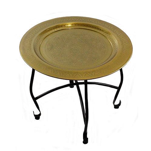 Mesa de té oro