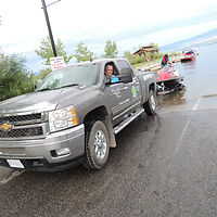 Truck towing seadoo
