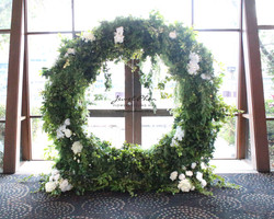 Jessica & Young Circle Ceremony Arch