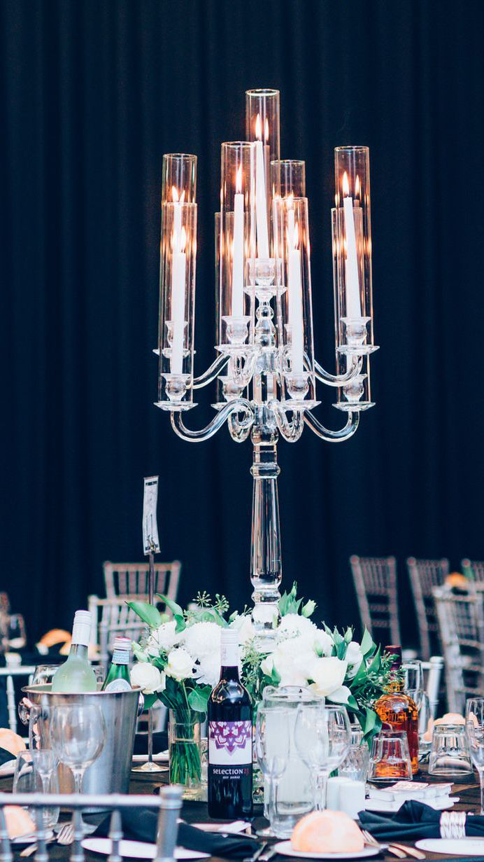 Windlight Crystal Candelabra 9 arm
