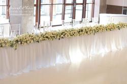 Stacey & Daniel White Rose Bridal Table Runner
