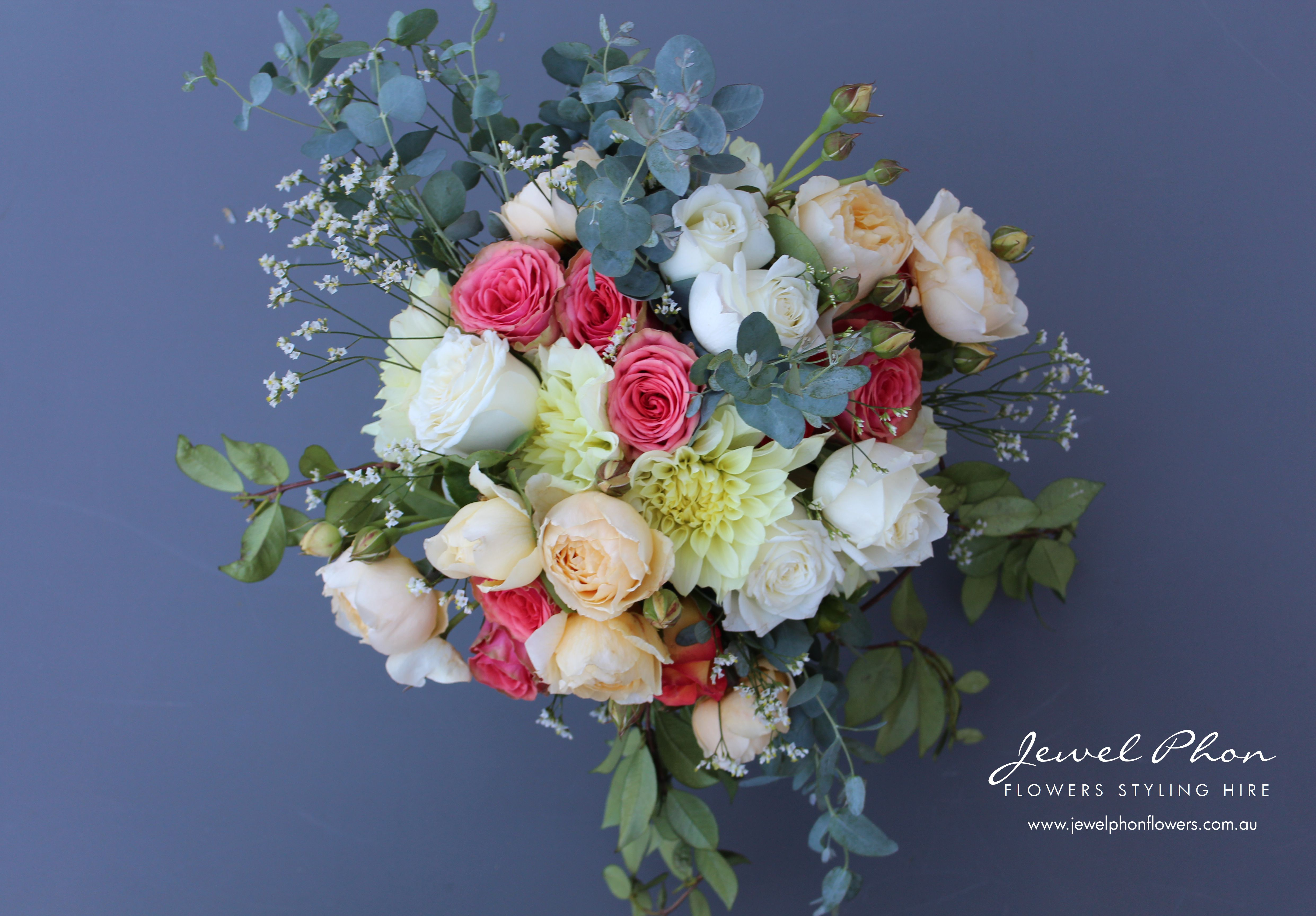 Sophie Coral Lemon Bride Bouquet