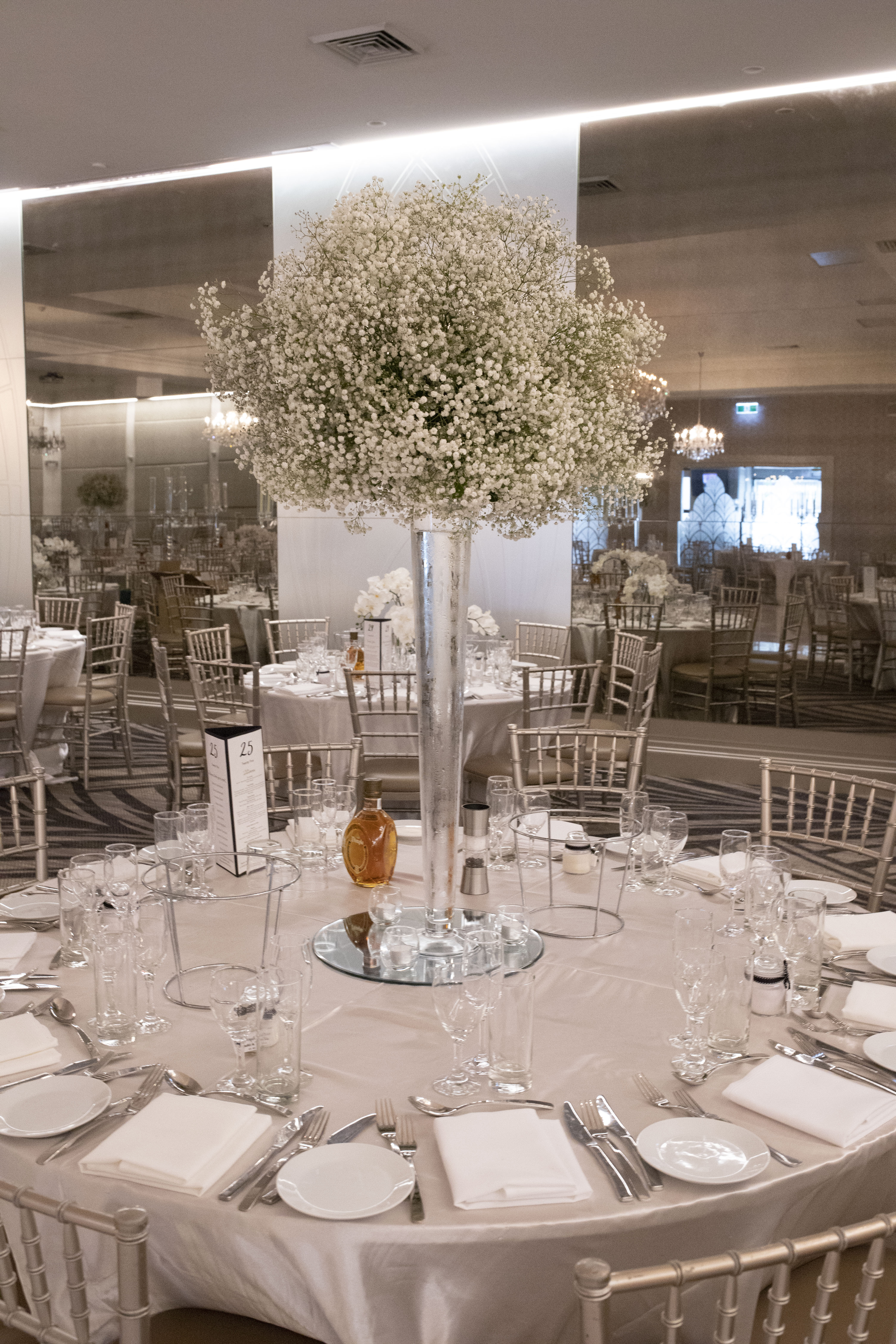 Tahlia & David Tall Centerpiece