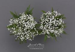 Melanie S Bridesmaid Bouquets Babys Breath Fern