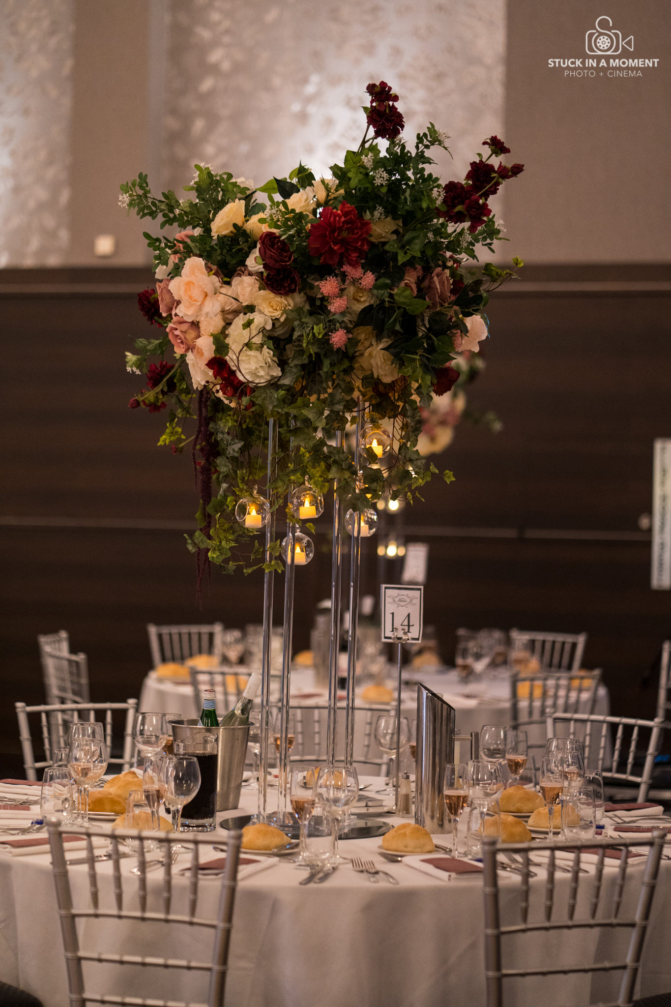 Glenis & Advait Centerpiece