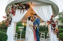 Glenis & Advait Ceremony Gazebo