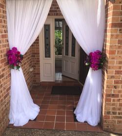 Emily & Elias Ceremony Home Entry Arch