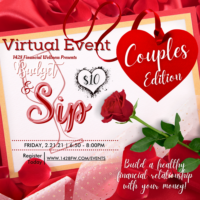 Virtual: Budget and Sip   Couples Edition