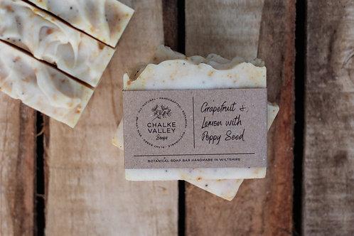 Chalke Valley Soaps - Grapefruit & Lemon with Poppy Seed